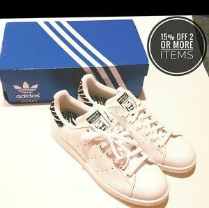 NWT adidas Stan Smith Zebra Print Sneakers Size 11